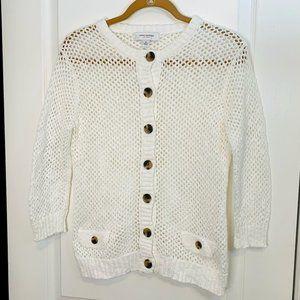 Isaac Mizrahi Open Weave Cardigan Sweater